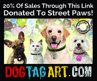 Purchase your pet's tage here, 20% will be donated to Street Paws!