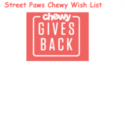 Street Paws Chewy.com Wish List